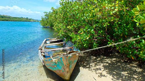 Obraz na plátne Boat on the river