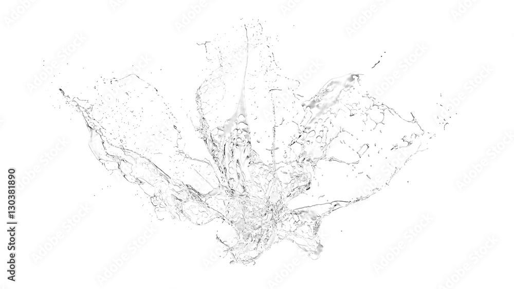 Fototapety, obrazy: Isolated transparent splash of water splashing on a white backgr