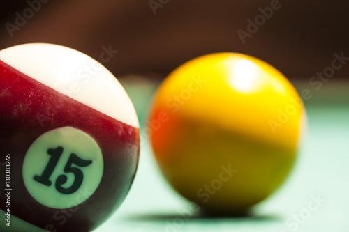 Photo Billiard balls.Close up