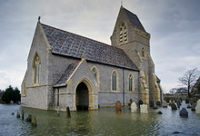 Flooded Church And Graveyard