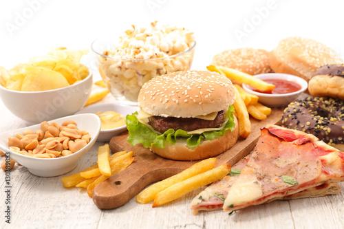 selection of junk food © M.studio