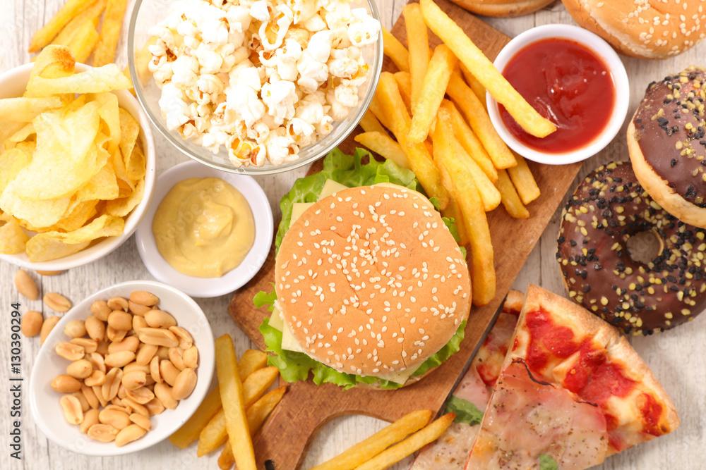 Fototapety, obrazy: selection of junk food