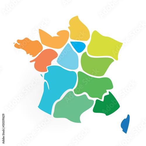 Fotografie, Obraz  les 13 régions de France