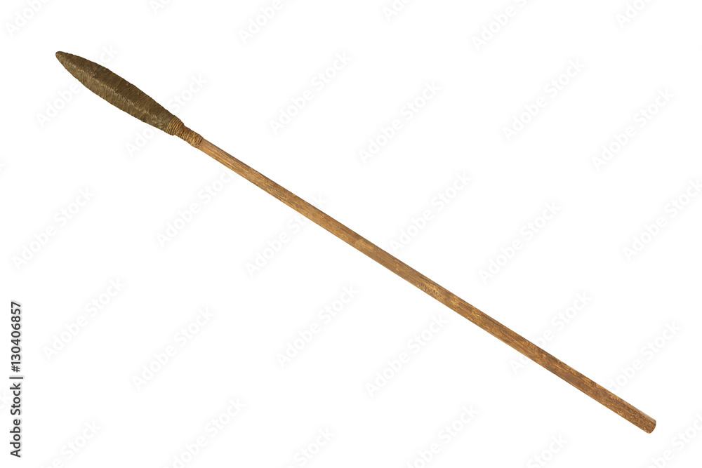 Fototapety, obrazy: ancient spear isolated on white background