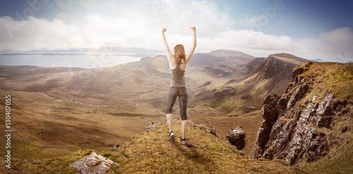Joggerin auf einem Berg