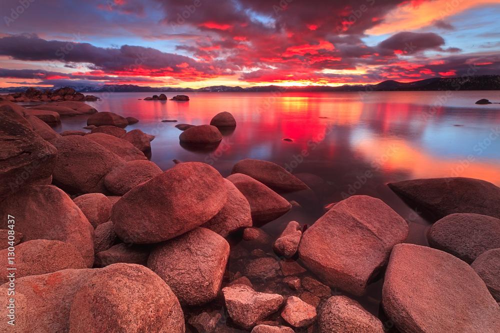 Fototapeta Northe Lake Tahoe Sunset
