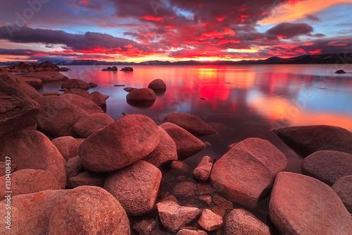 Obraz Northe Lake Tahoe Sunset - fototapety do salonu