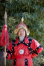 Man Dressed In Mongolian Warri...