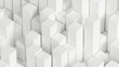 White abstract background with cube shapes. 3d illustration, 3d