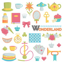 Big Collection Of Wonderland Icons