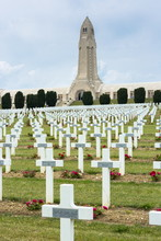 Cemetery Of Douaumont And The Ossuary, Ossuaire De Douaumont, At Fleury-devant-Douaumont Near Verdun, Meuse, Lorraine, France