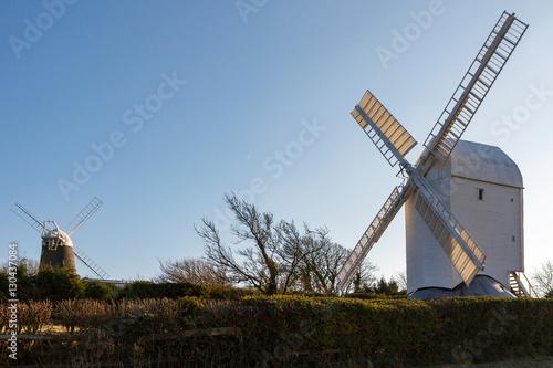 Fotografie, Obraz  Jill and Jack Windmills on a Winter's Day