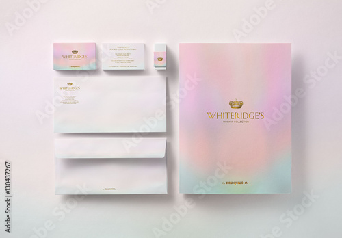 luxury gold embossed corporate stationery mockup 12 buy this stock