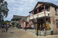 Old Colonial Shops, St George Street Pedestrian Zone, St, Augustine, Oldest Continuously Occupied European-established Settlement, Florida