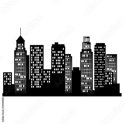 Fototapety, obrazy: cityscape buildings isolated icon vector illustration design
