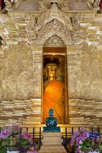 Emerald Buddha And Golden Buddha In The Main Bot Of Historic Wat Phra That Lampang Luang Temple, Lampang