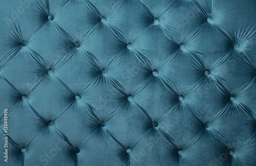 Cuadros en Lienzo Blue teal capitone tufted fabric upholstery texture