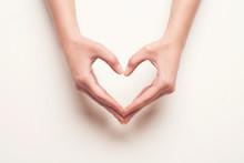 Hands Show Heart Gesture