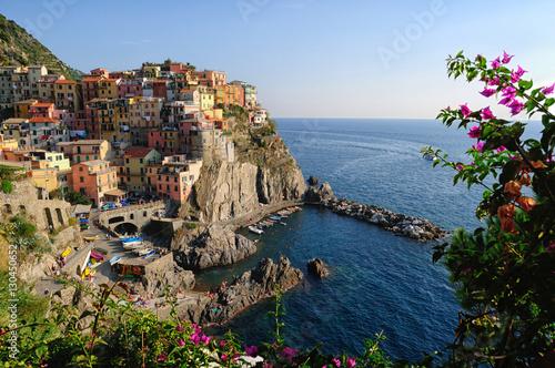 Fotobehang Liguria Manarola piccolo paese delle cinque terre, Liguria, Italia