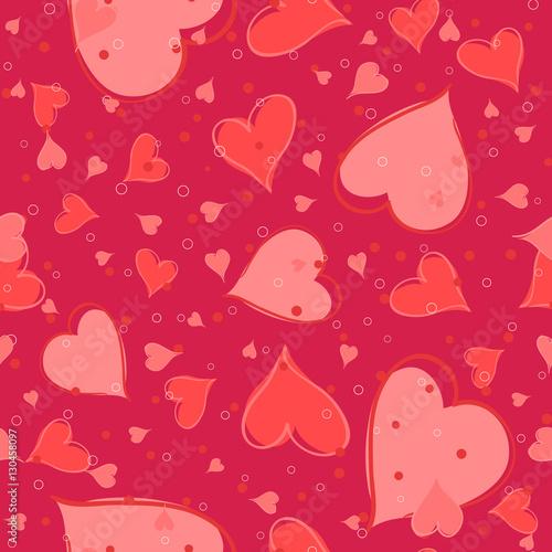 Materiał do szycia Bezszwowe valentine wzór. Ilustracja wektorowa
