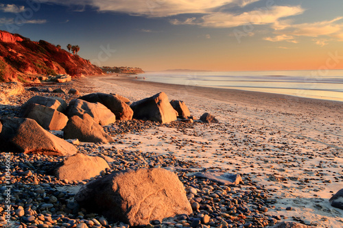 Sunset at South Carlsbad State Beach