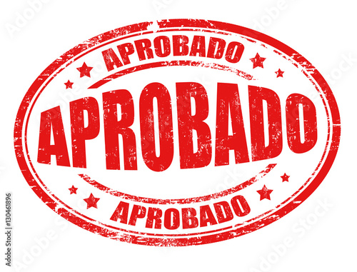 Photo Aprobado (approved) sign or stamp