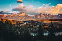 Grand Tetons Peak At Sunrise W...