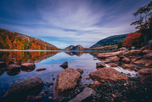 Jordan Pond And View Of The Bu...