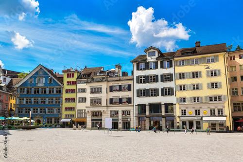 Street in historical part of Zurich