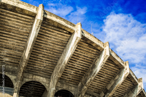 Fotobehang Stadion Arena football great and beautiful construction building