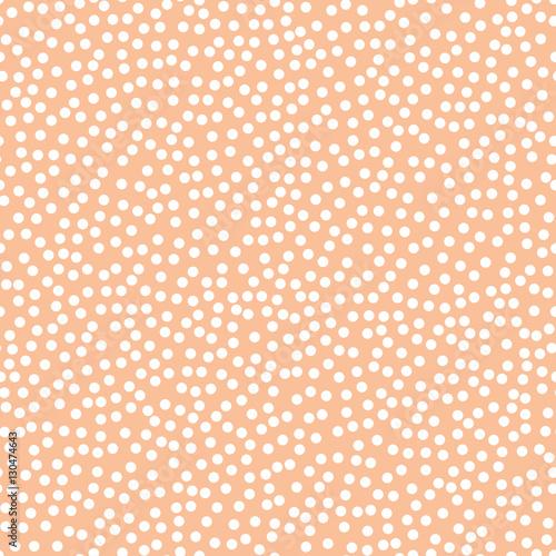 Seamless Orange Polka Dot Pattern Seam Free Polkadot Wallpaper