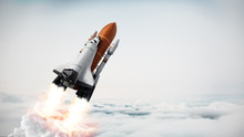 Rocket Carrying Space Shuttle ...
