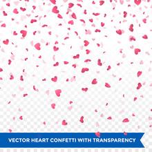 Valentine Day Pink Hearts Peta...