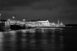 Palace bridge in Saint Petersburg, Russia at night