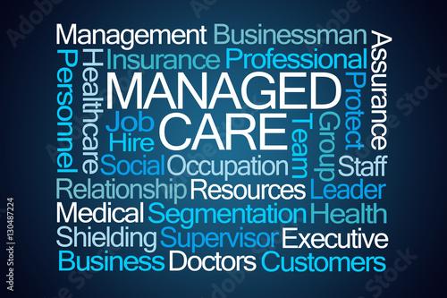 Fotografie, Obraz  Managed Care Word Cloud