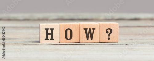 Obraz Question how on four wood cubes - fototapety do salonu