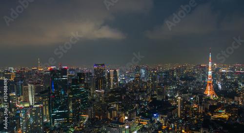 Spoed Foto op Canvas Tokyo Aerial view of Tokyo Skyline Tokyo, Japan