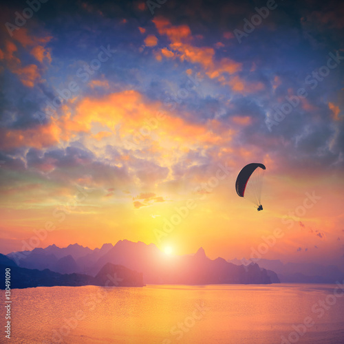Paraglide above Crimea