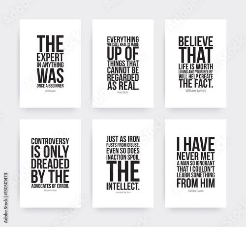 Inspirational motivating quotes set Slika na platnu