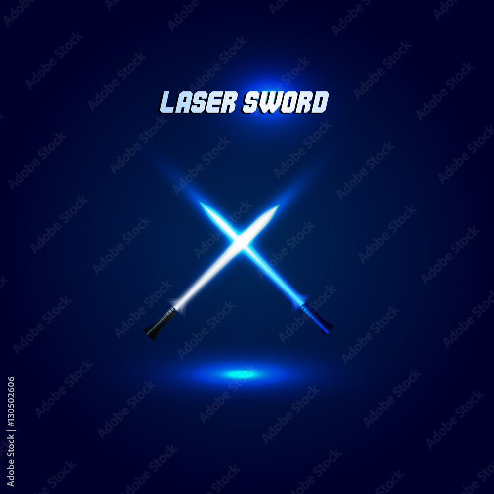 Photo  Isolated cossed light swords logo