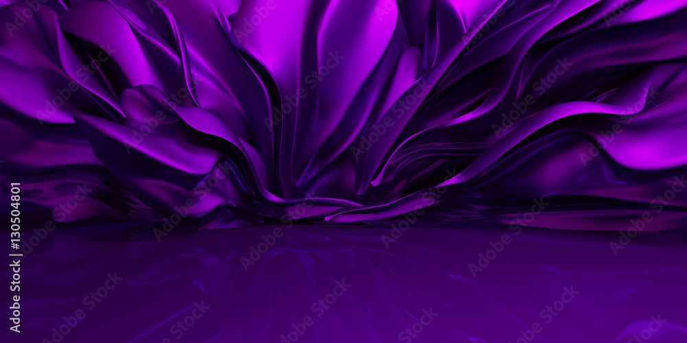 Fototapety, obrazy: Purple background with swaying cloth