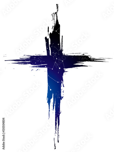 Fotografía cross which shows the stars