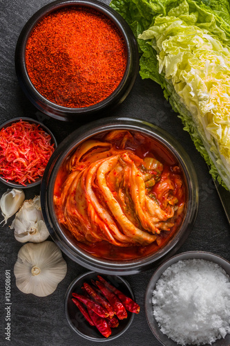 キムチ The kimchi that a Korean pickle is delicious