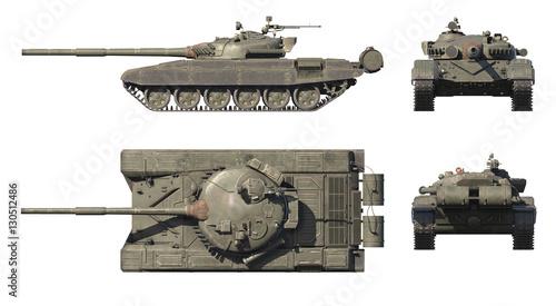 3D render of Russian main battle tank T-72 Wallpaper Mural