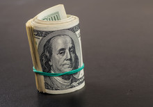 Money Roll With US Dollars. Se...