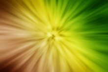 Abstract Dark Night Yellow Green Acceleration Speed Motion Or Explosion Energy Star Particles From Center Background.