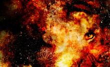 Mystical Animal Eye In Space, ...