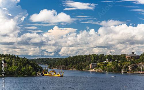 Staande foto Scandinavië Charming islands near Stockholm, Sweden.