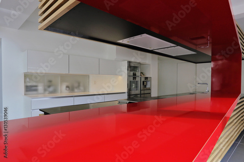 plan de travail rouge cuisine moderne – kaufen Sie dieses ...
