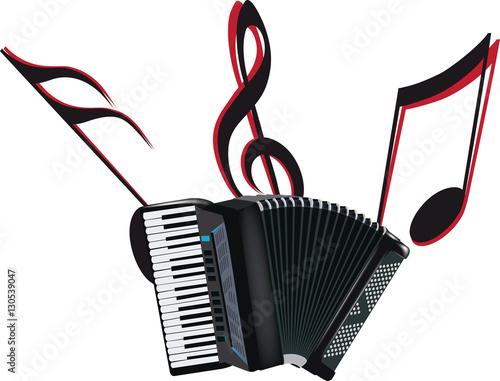 Fotografie, Obraz  strumento musicale la fisarmonica